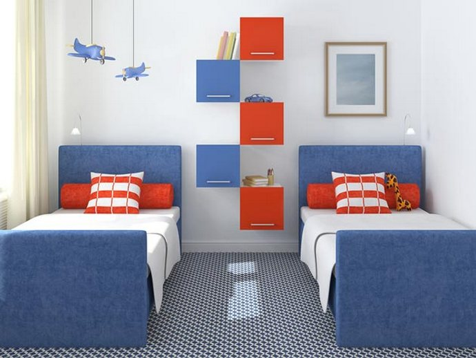 интерьер детской комнаты для двух школьников мальчиков