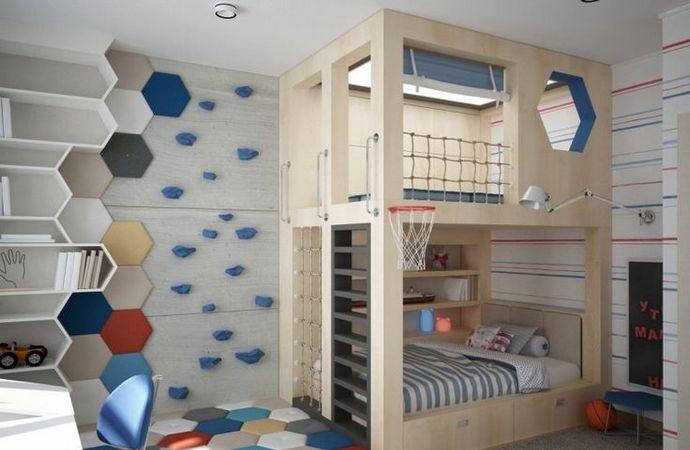 декорирование детской комнаты для двух мальчиков