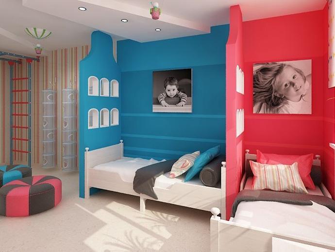 идеи детской комнаты для мальчика и девочки