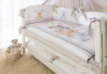 комплект в кроватку для новорожденных 7 предметов