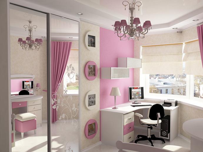 белая мебель для детской комнаты для девочки