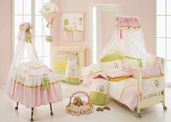 детские комплекты в кроватку для новорожденных