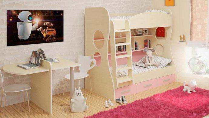 оформление детской комнаты для мальчика и девочки