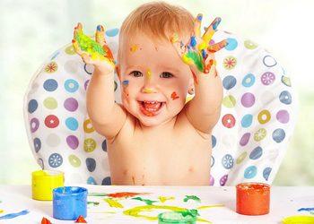 пальчиковые краски развивают детей после года