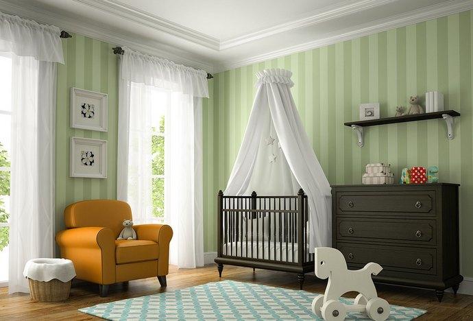 детская комната для двух новорожденных мальчиков