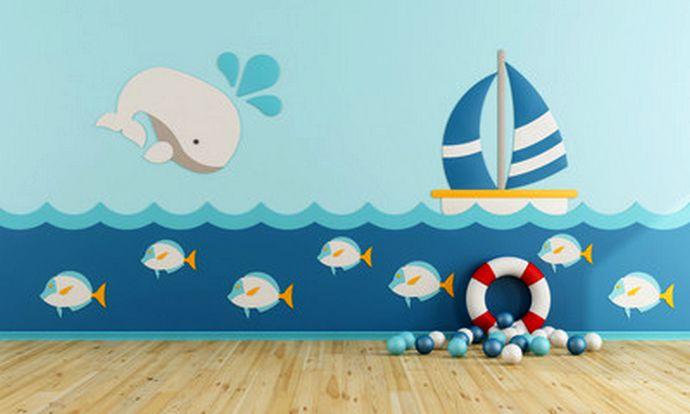 тематическая детская комната для двух мальчиков