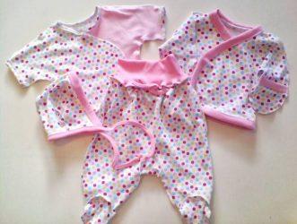 комплект одежды на выписку для девочки летом