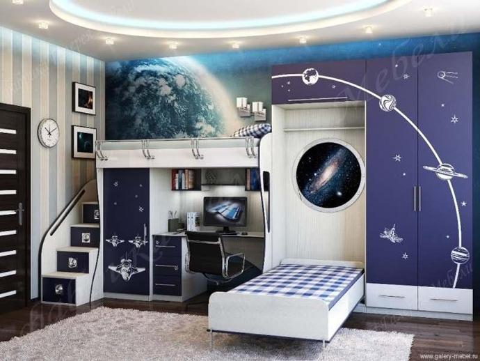 детская комната для подростка мальчика фото