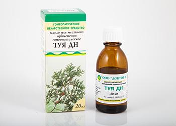 масло туи для лечения аденоидов