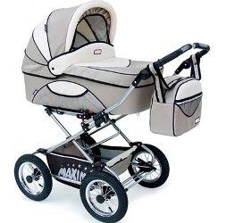 классическая коляска-люлька Maxima для новорожденного