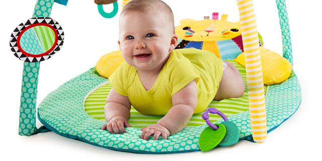 развивающий коврик tiny love зоосад