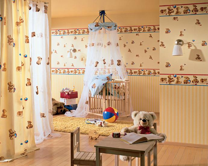 обои для детской комнаты комбинированные