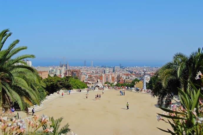 смотровая парка Гуэля в Барселоне