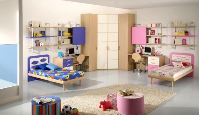 комната детская мебель для 2